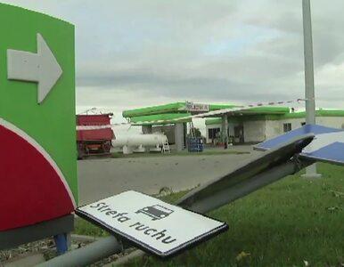 Wiatr zniszczył stację benzynową pod Łańcutem