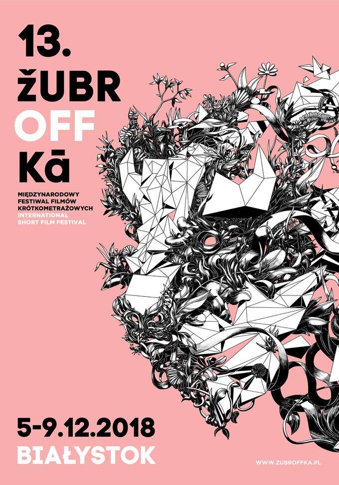 plakat 13. edycji Festiwalu Filmów Krótkometrażowych Żubroffka