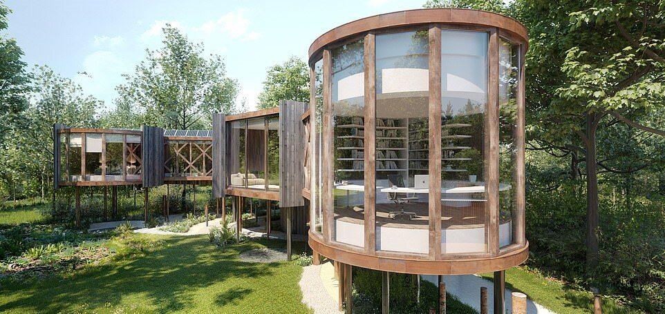 Luksusowy domek na drzewie Luksusowy domek na drzewie za milion funtów
