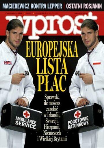 Okładka tygodnika Wprost nr 39/2006 (1241)