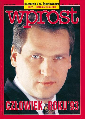 Okładka tygodnika Wprost nr 1/1994 (580)