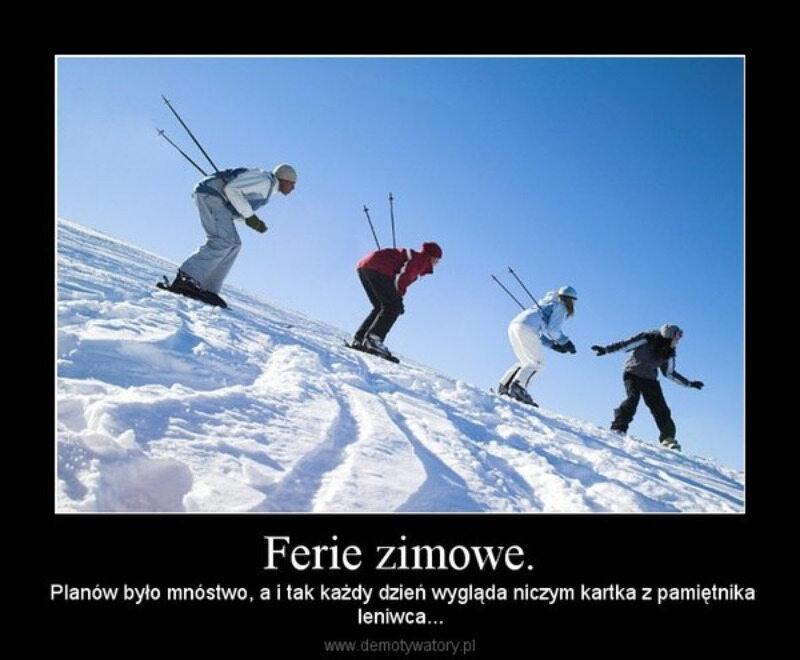 Ferie zimowe 2020 - memy