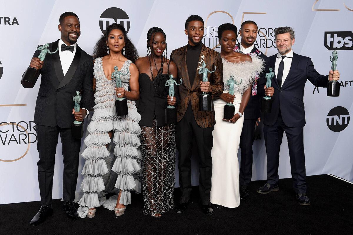 Sterling K. Brown, Angela Bassett, Lupita Nyong'o, Chadwick Boseman, Danai Gurira, Michael B. Jordan i Andy Serkis