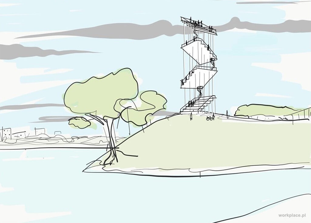 Wieża widokowa nad Wisłą Wieża widokowa na Cyplu Czerniakowskim