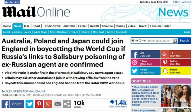 Screen zartykułu Daily Mail