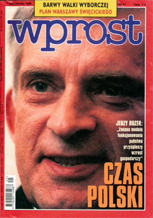 Okładka tygodnika Wprost nr 41/1998 (828)