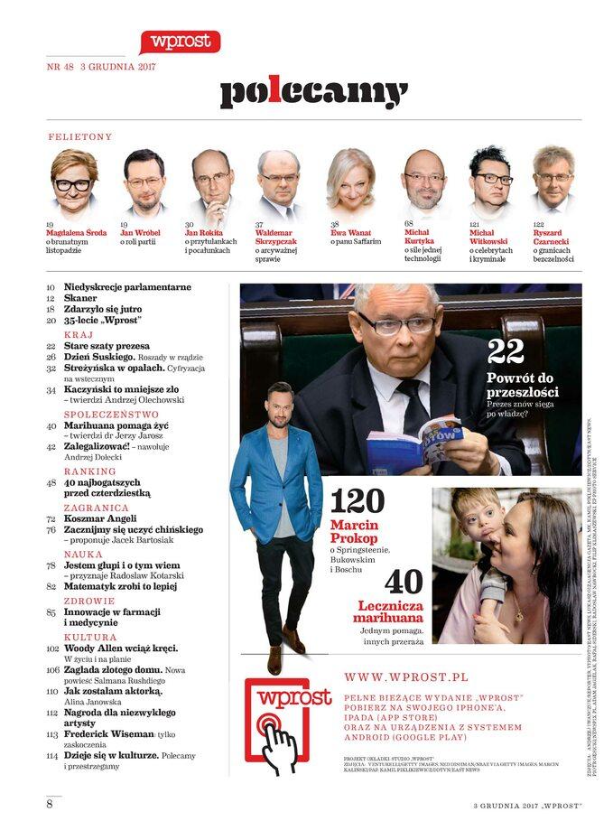 Spis treści Wprost 48/2017