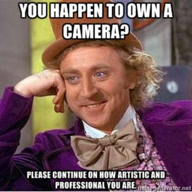 Masz aparat? Proszę mów dalej jak artystyczny i profesjonalny jesteś
