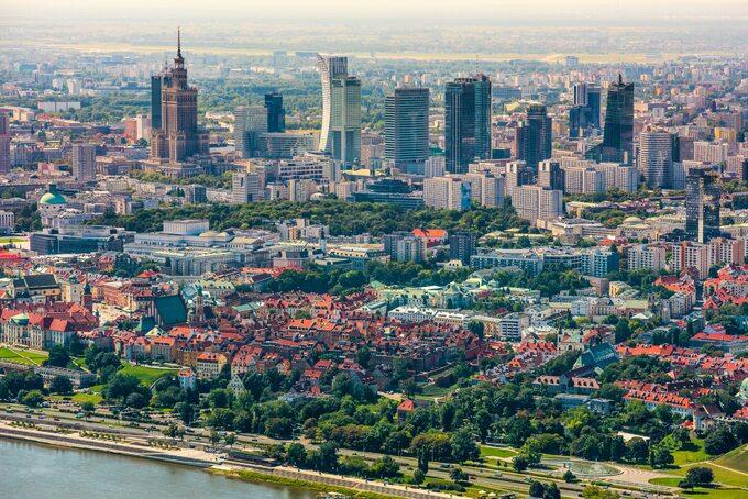 Warszawa zlotu ptaka