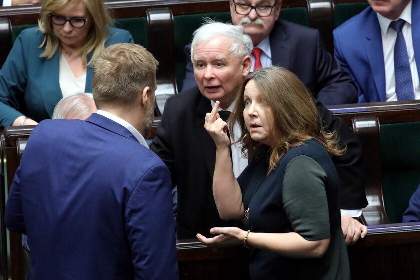 Sejm, Joanna Lichocka i Jarosław Kaczyński