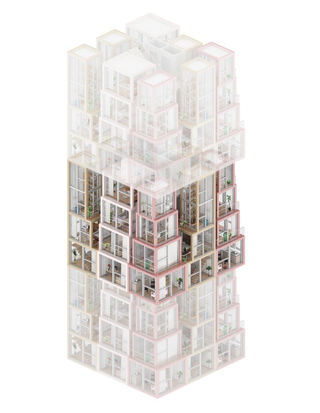 Pionowe mieszkania Pionowe mieszkania – nowa wizja budowy bloków