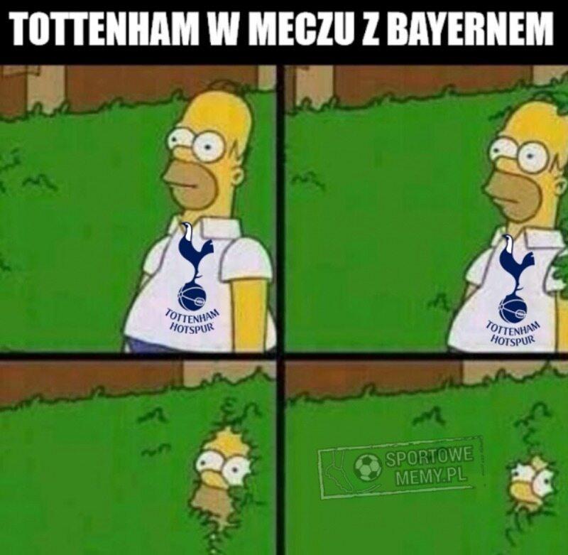 Mem po meczu Tottenhamu Hotspur z Bayernem Monachium