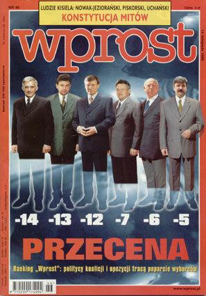 Okładka tygodnika Wprost nr 46/1999 (885)