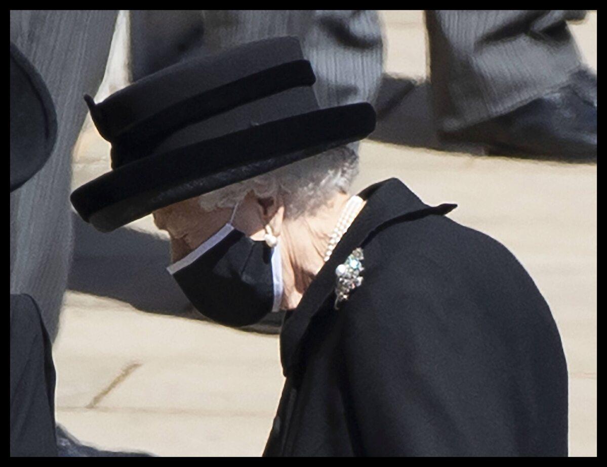 Królowa Elżbieta II na pogrzebie męża