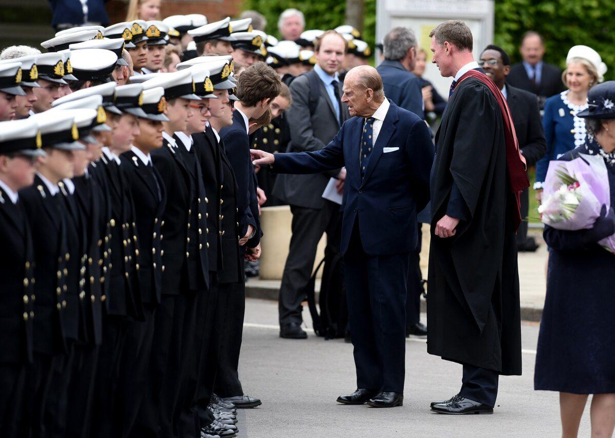 Książę Filip w 2017 roku odwiedził Pangbourne College