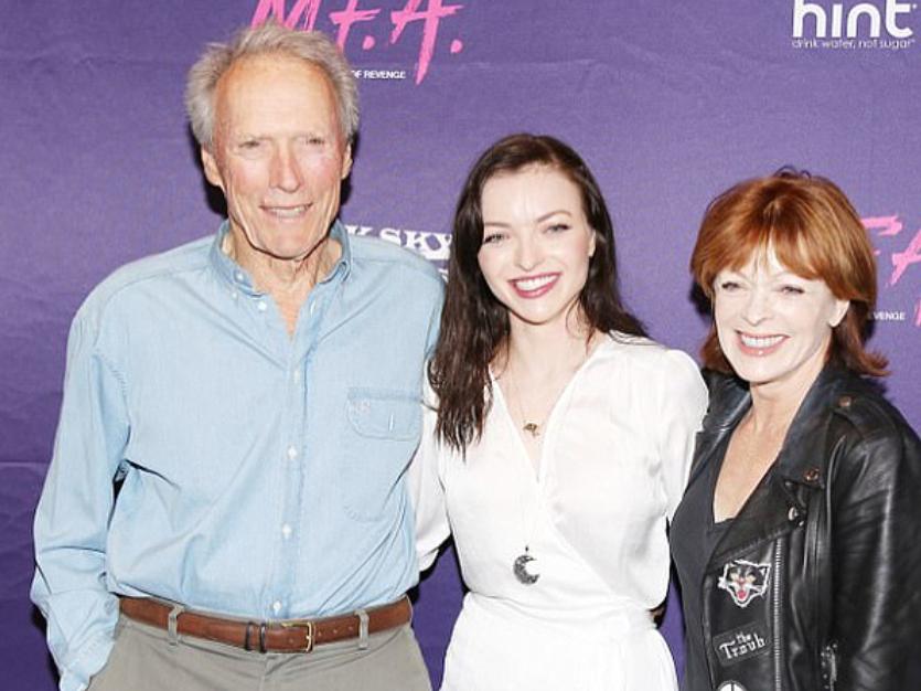 Clint Eastwood z córką i byłą partnerką