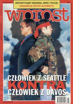 Okładka tygodnika Wprost nr 5/2001 (949)