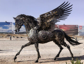 Niesamowite steampunkowe rzeźby. Ze złomu