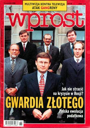 Okładka tygodnika Wprost nr 36/1998 (823)