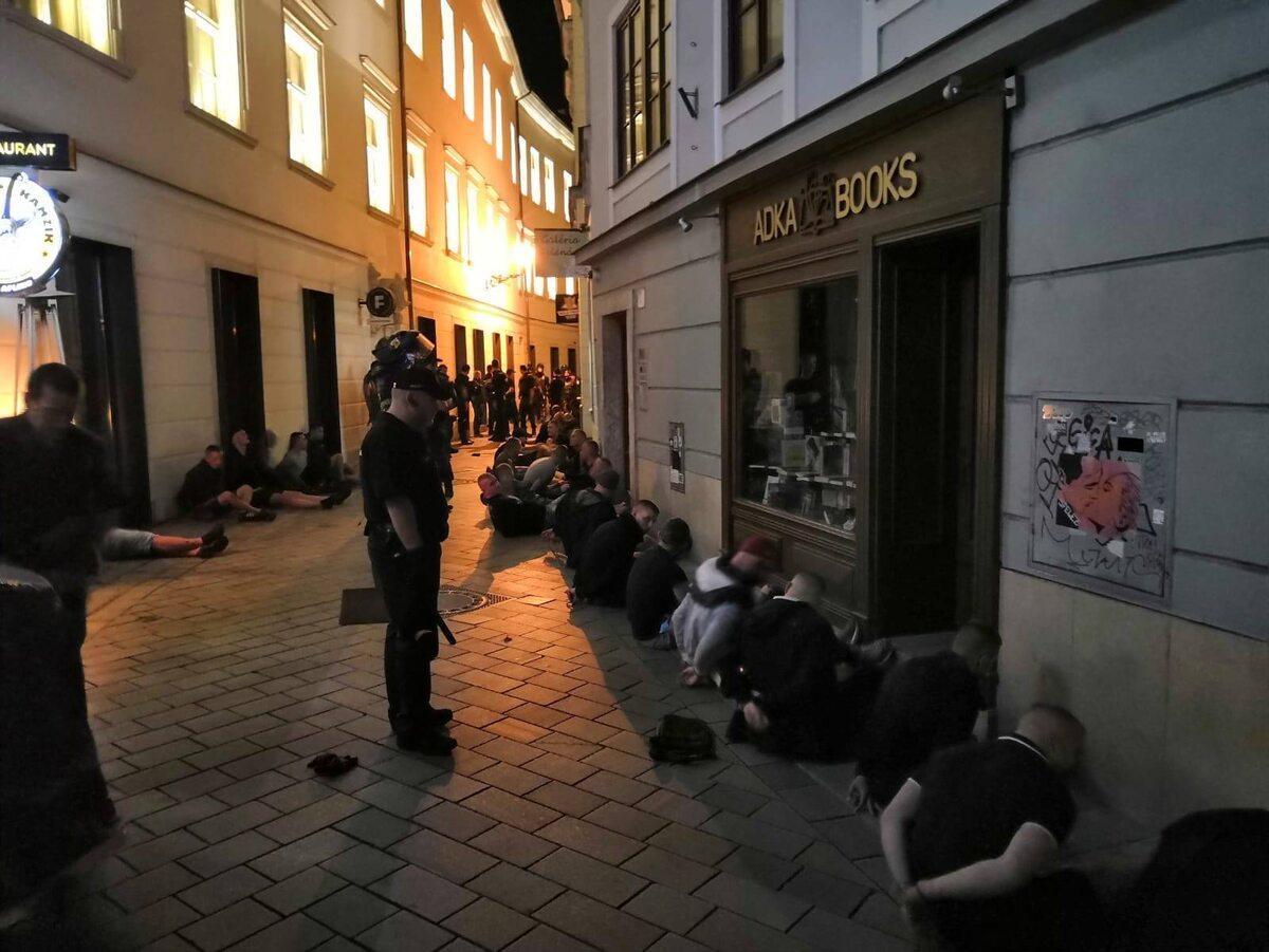 Kibole zatrzymani w Bratysławie