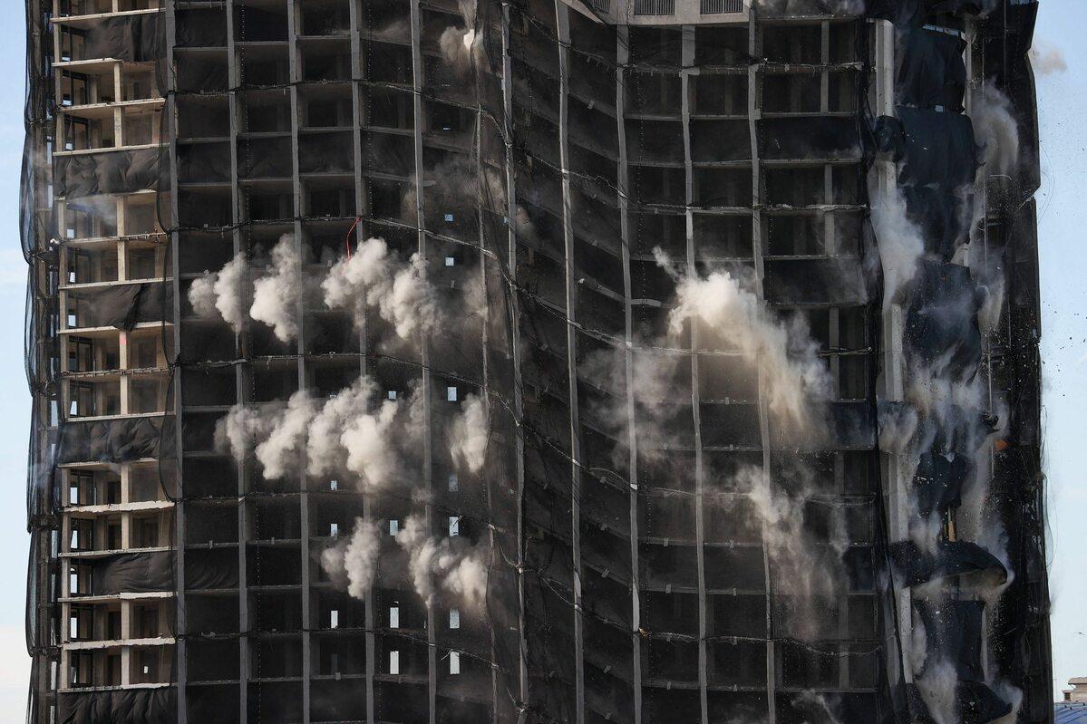 Wyburzenie Trump Plaza