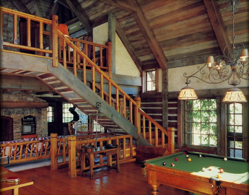 Sala gier z pokojem na górze