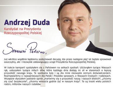 Duda napisał list do wyborców