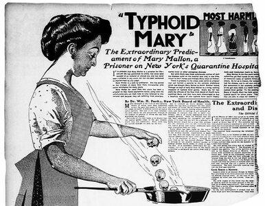 Tyfusowa Mary była izolowana przez 27 lat. Jako bezobjawowy nosiciel...