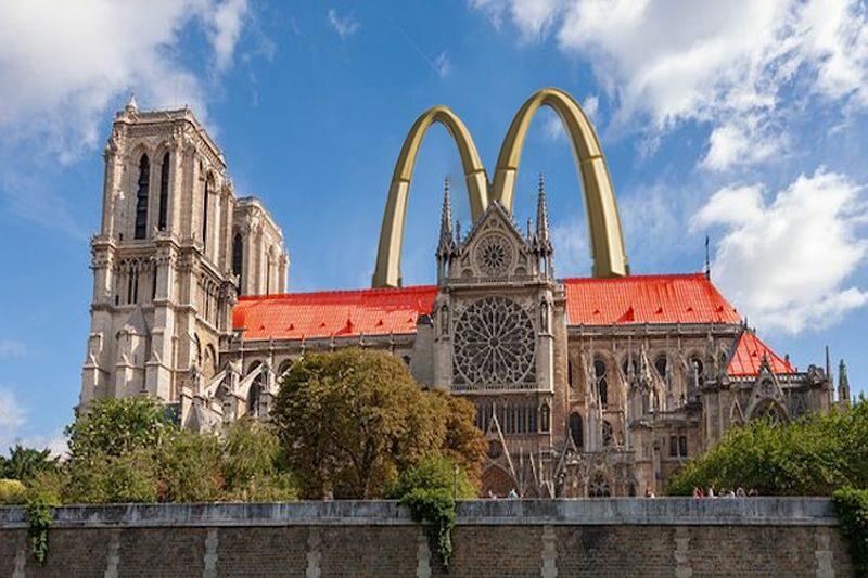 Katedra Notre-Dame przerobiona na McDonald's