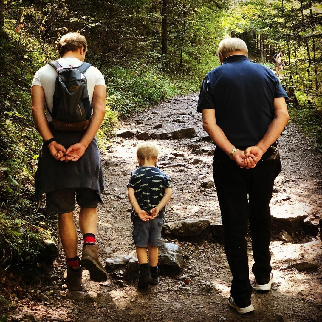 Maciej Stuhr z ojcem i synem