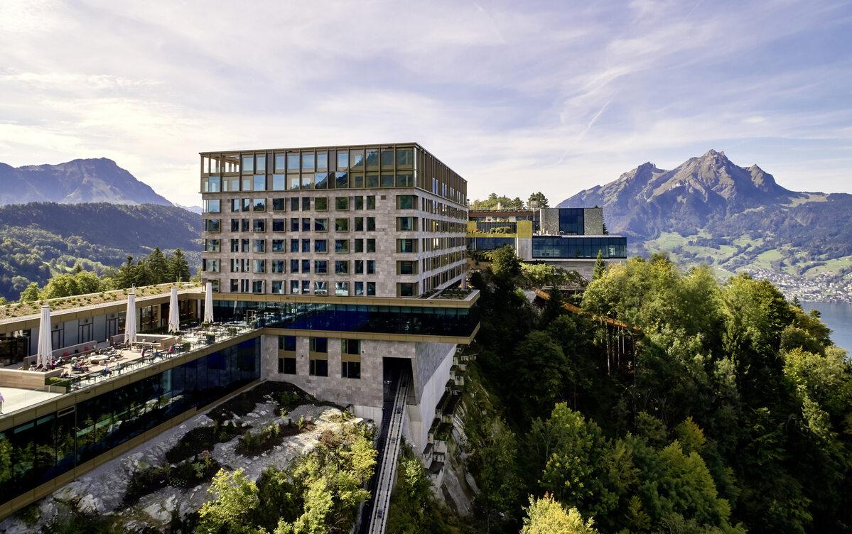 Bürgenstock Hotel Bürgenstock Hotel niedaleko Lucerny w Szwajcarii