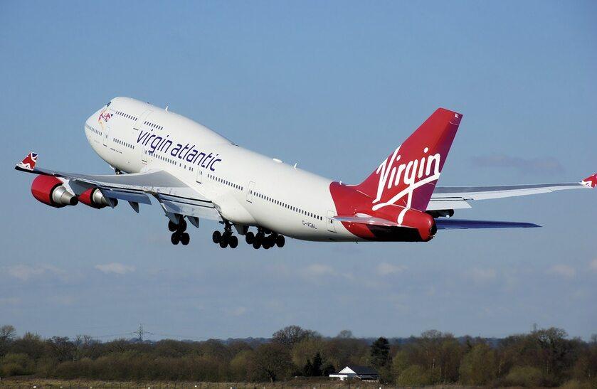 Samolot linii lotniczych Virgin Atlantic, zdjęcie ilustracyjne