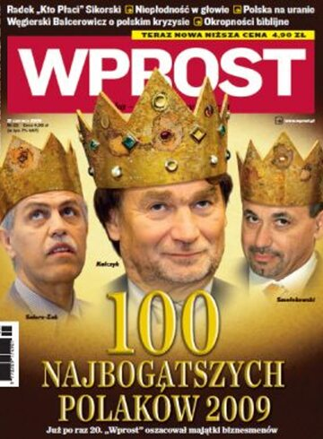 Okładka tygodnika Wprost nr 25/2009 (1380)