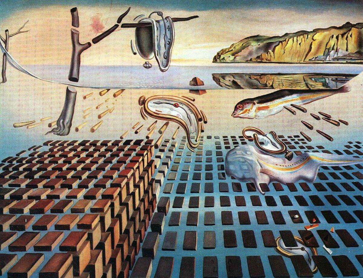 "Salvador Dali ""The Disintegration of the Persistence of Memory"" 1954 r."