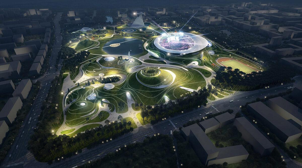 Quzhou Sports Campus Quzhou Sports Campus w Chinach