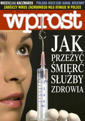 Okładka tygodnika Wprost nr 29/2004 (1129)