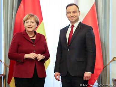 """Prezydent Duda rozmawiał z kanclerz Niemiec. """"To konsultacje przed..."""