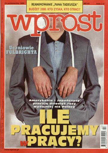 Okładka tygodnika Wprost nr 43/1999 (882)