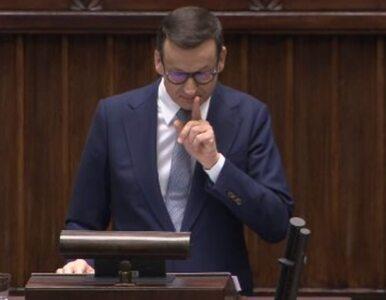 """""""Z panem to się spotkam w innej sali"""". Awantura w Sejmie, Morawiecki na..."""
