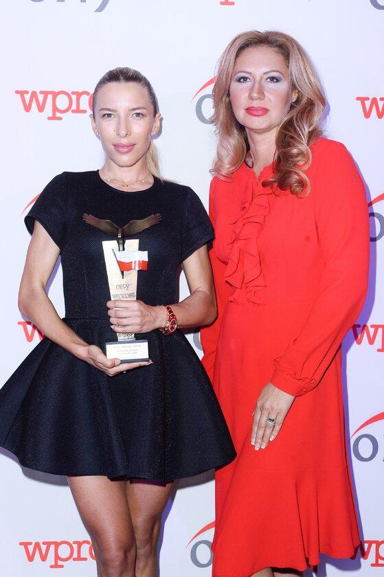 Ewa Chodakowska i  Dyrektor Generalna PMPG Polskie Media S.A. Katarzyna Gintrowska