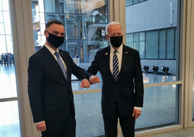 Andrzej Duda spotkał się z Joe Bidenem i Borisem Johnsonem