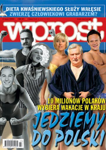 Okładka tygodnika Wprost nr 27/2003 (1075)