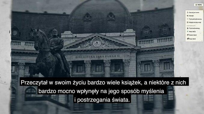 """Screen zgry edukacyjnej """"Dziedzictwo kulturowe Jana Pawła II"""""""