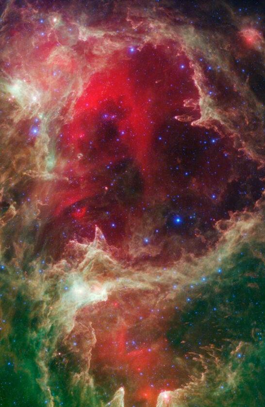 Zdjęcie wykonane przez Teleskop Spitzera Teleskop Spitzera