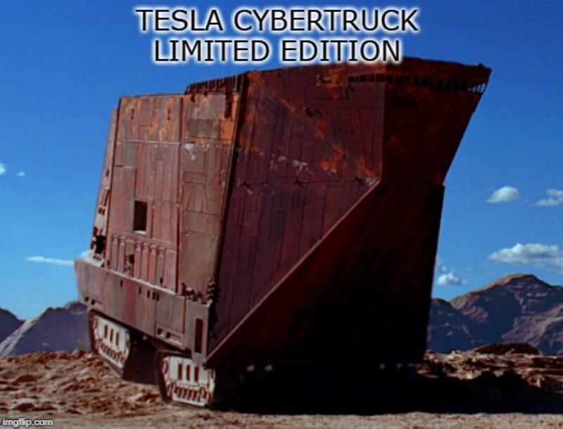 Memy na temat Tesli Cybertruck