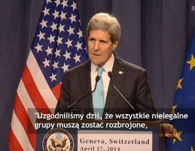 Kerry: Nielegalne grupy muszą zostać rozbrojone