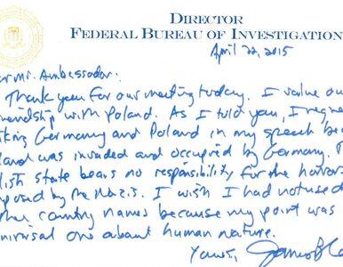 Dyrektor FBI w liście do ambasadora RP: Żałuję, że powiązałem Polskę z...