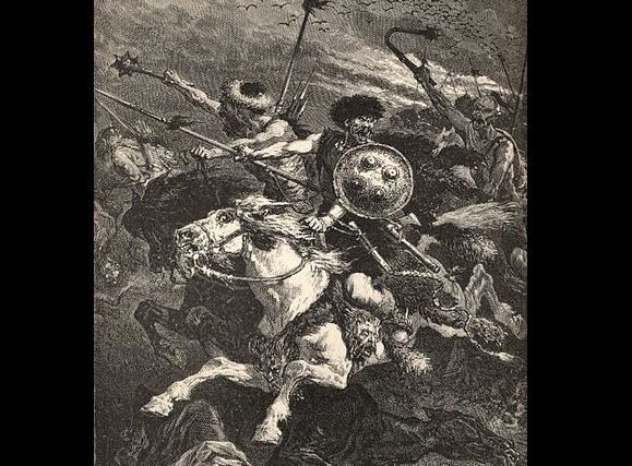 20 czerwca 451 n.e. Bitwa na Polach Katalaunijskich. Stoczona między   cesarstwem rzymskim a Hunami.(fot. domena publiczna)