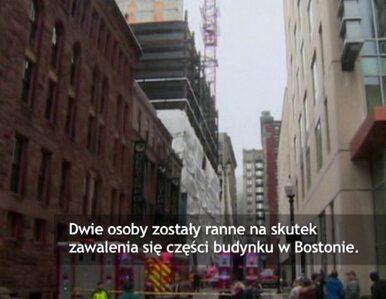 Zwaliła się część budynku w Bostonie. Dwóch robotników rannych