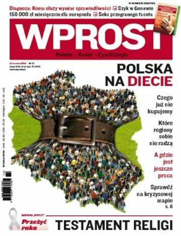 Okładka tygodnika Wprost nr 12/2009 (1367)